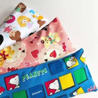 🌈 Bean Sprout Husk Pillow / Beanie Pillow , Fabric from Japan/USA ( 100% Handmade 100% Cotton , Premium Quality!) size 15 x 40 cm