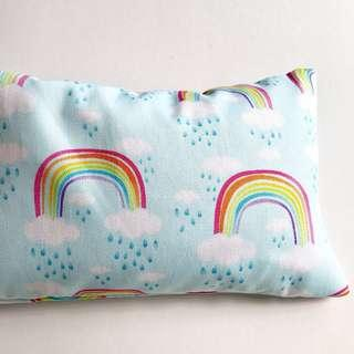 🌈 Bean Sprout Husk Pillow / Beanie Pillow , Fabric from USA ( 100% Handmade 100% Cotton , Premium Quality!) size 15 x 40cm Rainbow 🌈 ☁️ clouds