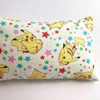 🌈 Bean Sprout Husk Pillow / Beanie Pillow , Fabric from Japan 🇯🇵( 100% Handmade 100% Cotton , Premium Quality!) size 15 x 40 cm Pokémon Pikachu