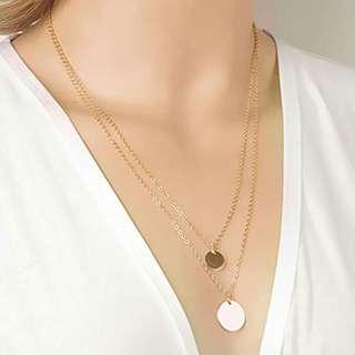 Double Gold Layered Chain Necklace ( pls read the detail below)👇 more cheaper than H&M