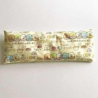🌈 Bean Sprout Husk Pillow / Beanie Pillow , Fabric from Japan ( 100% Handmade 100% Cotton , Premium Quality!) size 15 x 40cm Sanrio Sumikkogurashi