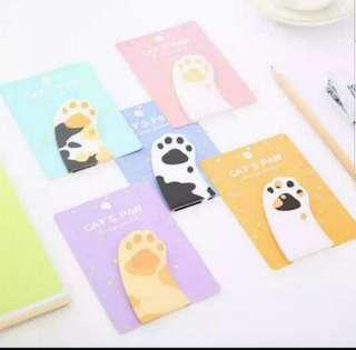 (Buy 5 Get 1 Free) Cat paw post it note