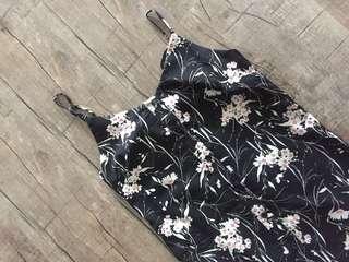 BNWT Playdress Black Floral A-Line Button Down Dress