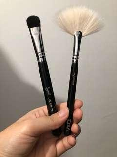 (Price for both)💯 Authentic  Sigma E50 Large Fluff Brush + Zoeva 129 Luxe Fan
