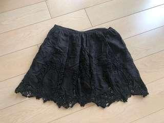 🈹日本購入 日牌Love Girls Market 黑色刺繡民族半截裙