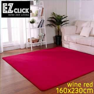 INSTOCK WINE RED LARGE SOFT CORAL FLEECE CARPET