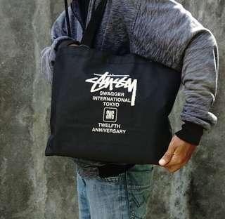 STUSSY x SWAGGEE japan 12th Anniversary Totebag (samurai magazine appendix)