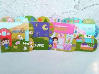 Board books animals, colors, shapes, numbers