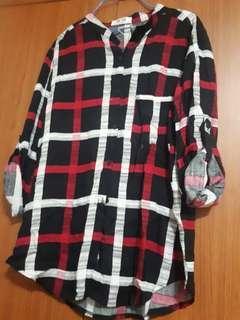 B.N Long Sleeve Checkered Shirt