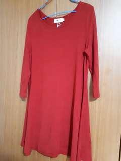 TEMT Brand Red Dress