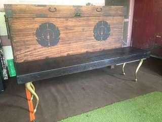 Yakal bench brass Legs