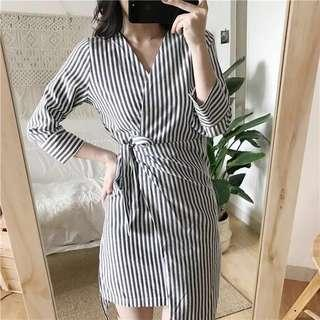 🆕 READY STOCK STRIPE DRESS #midsep50