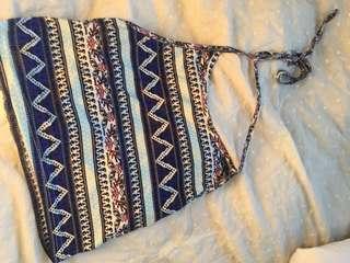 Halter top with Aztec pattern!