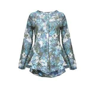 Poplook Elikapeka flared peplum blouse