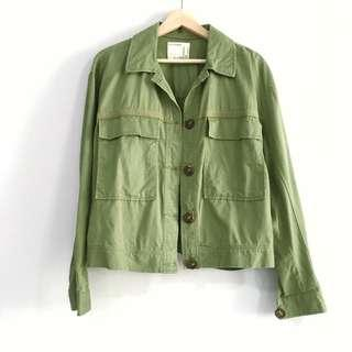 🚚 BN F21 Shacket in Olive Green