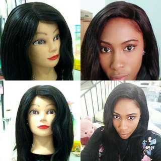 Wig making with used/old or new human hair extensions