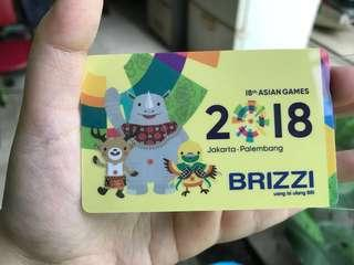 E-money BRI edisi asian games brizzi
