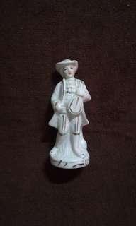 Vintage Porcelain Gentleman Playing Music Instrument Figure