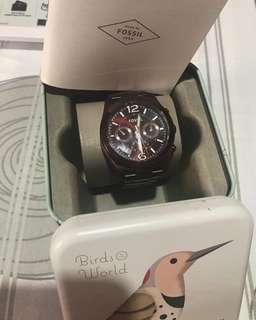 Original Fossil Analog Watch SS metal B ES4110 used once bought in UAE for 920 Dirhams.