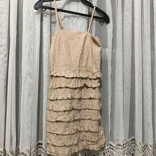 Beige/ skin tone dress