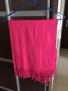 桃紅色scarf