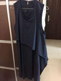 寶藍色連身長裙