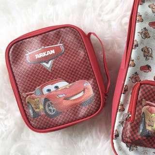 CUSTOM PENCIL BAG cars
