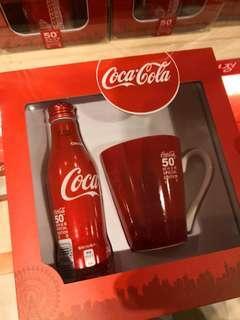 台灣可口可樂101限定鋁瓶+杯 特別版紙盒裝