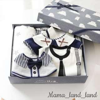 <Gift set gift 🎁 > Lovely little gentlemen baby cotton gift set (7pcs)
