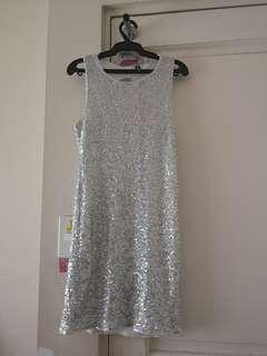 Silver sequinned dress