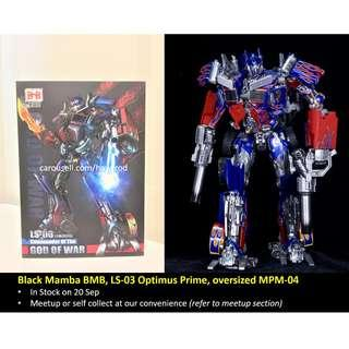 (In Stock) Black Mamba BMB, LS-03 LS03 Optimus Prime, oversized MPM-04