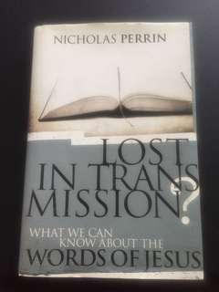 Nicholas Perrin - Lost in transmission