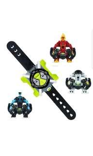 Ben10 Ben 10 Omni Launch Battle Figures, Heat Blast, Cannon Bolt and XLR8