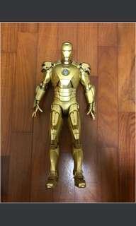 Play imaginative Super alloy 1/6 midas diecast gold Ironman
