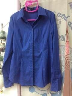 🚚 NET 寶藍色顯瘦襯衫8