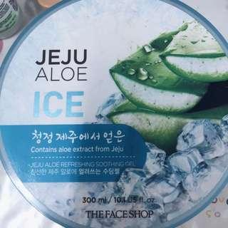 Ice Moisturizer face shop and Mask with shimmer cream savee