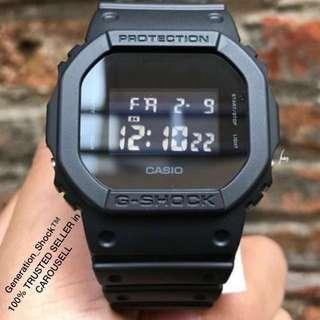 TOP🌟SELLING : 1-YEAR OFFICIAL CASIO WARRANTY: 100% Originally Authentic G-SHOCK Resistant In DEEP BLACK Stealth Matt : Best For Most Rough Users & Unisex : DW-5600BB-1DR / DW-5600 / DW5600 / DW5600BB / G SHOCK / GSHOCK DIVER SPORTS WATCH