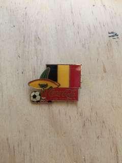 Vintage Mexico World Cup 1986, Team Belgium Coca Cola Pin
