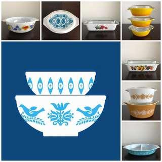 Vintage Pyrex ~ PRICES REDUCED / NO PRICE NEGO / NO LOWBALLING