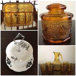 Vintage Amber / Cake Tier Stand
