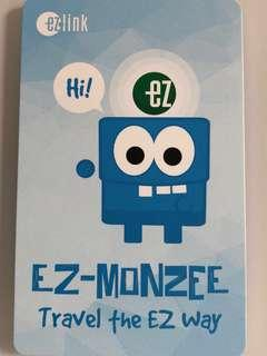 Limited edition brand new Monzee blue design Ezlink card for sale.