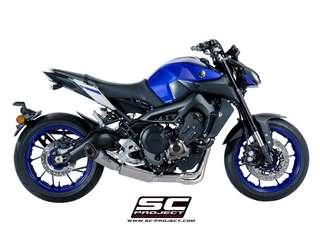 Yamaha MT-09 2017- SCPROJECT Full system 3-1 with S1 silencer Euro4 (LTA APPROVED)