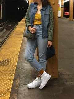 MACY'S Style & Co Denim with sleeve jacket