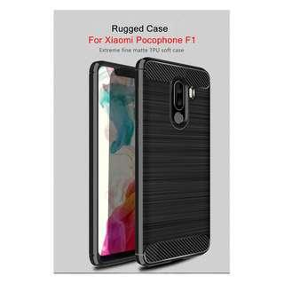 🚚 TPU Shockproof Lined Case for Xiaomi Pocophone F1 (Black)