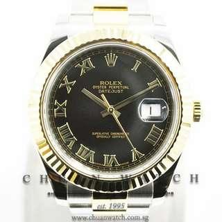 Pre-Owned Rolex DateJust II 41mm 116333 Black Roman - Discontinued