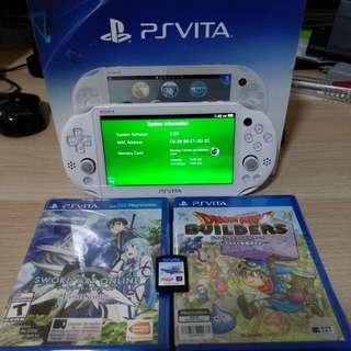 PS Vita Slim (White / v3.68) w/ 3 Games