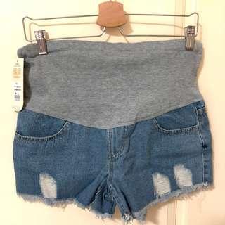🚚 牛仔短褲 孕婦褲
