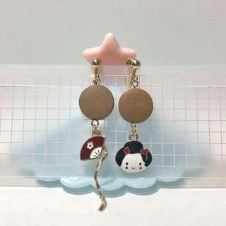 耳夾🧡全新日本娃娃木板款(21)