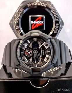 * FREE DELIVERY * Brand New 100% Authentic Casio GShock Stealth Black & Black Metal Bezel Mens Casual Watch GA-201-1ADR GA201