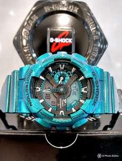 * FREE DELIVERY * Brand New 100% Authentic Casio GShock Metallic Green Mens Casual Watch GA-110NM-3ADR GA110NM